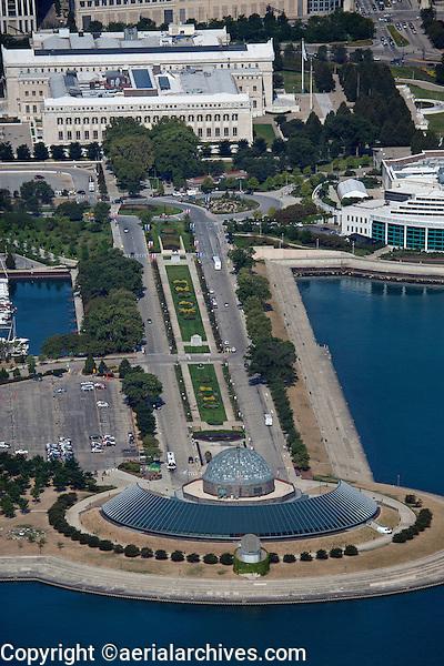aerial photograph Adler Planetarium, Chicago, Illinois