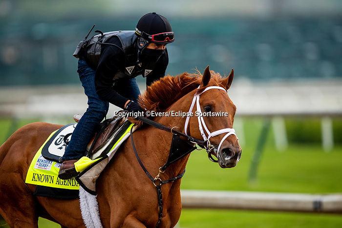 April 25, 2021: Known Agenda gallops at Churchill Dows in Louisville, Kentucky on April 25, 2021. EversEclipse Sportswire/CSM