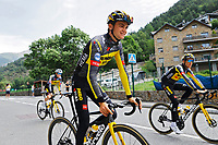 July 12th 2021, Andorre-la-Vielle, France; KUSS Sepp (USA) of JUMBO-VISMA during rest day 2 of the 108th edition of the 2021 Tour de France cycling race on July 12