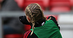 Leah Galton of Manchester United Women hairstyle