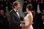 NON EXCLUSIVE PICTURE: MATRIXPICTURES.CO.UK<br /> PLEASE CREDIT ALL USES<br /> <br /> WORLD RIGHTS<br />  <br /> Spanish actor Javier Bardem and Spanish actress Penelope Cruz attend the premiere for Loving Pablo during the 74th Venice Film Festival in Venice, Italy.<br /> <br /> SEPTEMBER 6th 2017<br /> <br /> REF: PTY 171954