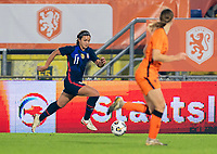 BREDA, NETHERLANDS - NOVEMBER 27: Sophia Smith #11 of the USWNT dribbles during a game between Netherlands and USWNT at Rat Verlegh Stadion on November 27, 2020 in Breda, Netherlands.