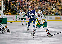 9 February 2019: University of Vermont Catamount Forward Max Kaufman, a Sophomore from Rochester, NY, in second period action against the University of New Hampshire Wildcats at Gutterson Fieldhouse in Burlington, Vermont. The Catamounts defeated the Wildcats 4-1 to split their 2-game Hockey East weekend series. Mandatory Credit: Ed Wolfstein Photo *** RAW (NEF) Image File Available ***