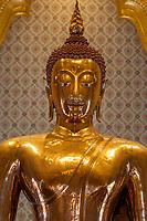 Bangkok, Thailand.  Buddha in Wat Traimit, Temple of the Golden Buddha.