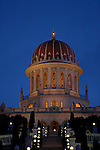 Israel, Mount Carmel. The Bahai Shrine and garden in Haifa