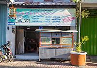 Bali, Indonesia.  Muslim Fast Food Coffee Shop, Klungkung, Semarapura.