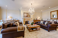 BNPS.co.uk (01202) 558833. <br /> Pic: TailorMade/BNPS<br /> <br /> Pictured: Reception room. <br /> <br /> A multi-millionaire is hoping to have a shot at selling his luxury mansion - by throwing a hi-tech golf simulator into the deal.<br />  <br /> Golf-loving Barry Bester put the waterfront property on Sandbanks, Dorset, on the market for £11m last year.<br />  <br /> He is now offering his £40,000 state-of-the-art simulator he has had built on the grounds with the sale.