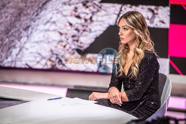 Womens Elite Cyclist Letizia Paternoster at the presentation of the 2021 Giro d'Italia Route in the Rai Studios in Corso Sempione, Milan, Italy. 23rd February 2021.  <br /> Picture: LaPresse/Claudio Furlan | Cyclefile<br /> <br /> All photos usage must carry mandatory copyright credit (© Cyclefile | LaPresse/Claudio Furlan)
