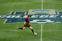 Chester, PA - Sunday December 10, 2017: Adam Mosharrafa Stanford University defeated Indiana University 1-0 in double overtime during the NCAA 2017 Men's College Cup championship match at Talen Energy Stadium.