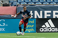 FOXBOROUGH, MA - MAY 12: Francois Dulysse #60 of New England Revolution II looks to pass during a game between Union Omaha and New England Revolution II at Gillette Stadium on May 12, 2021 in Foxborough, Massachusetts.
