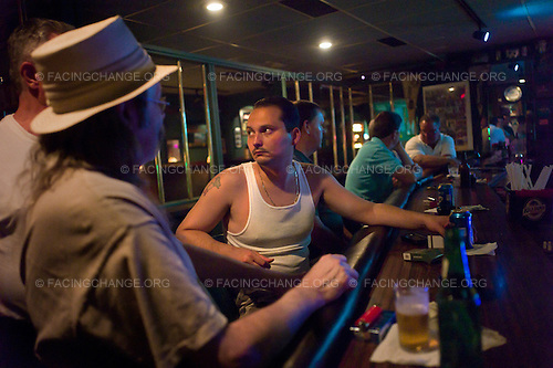 Scranton, Pennsylvania.August 3, 2012..Bar in the Hill District...Photograph by Alan Chin.