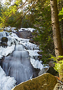 Upper Georgiana Falls on Harvard Brook in the White Mountains, New Hampshire USA during the autumn months.