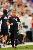 New York Red Bulls assistant coach Richie Williams. The New York Red Bulls defeated the Houston Dynamo 2-1 during a Major League Soccer (MLS) match at Red Bull Arena in Harrison, NJ, on June 2, 2010.