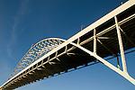 The Fremont Bridge, close-up, Portland, Oregon