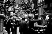 New York, New York.April 24, 2009.USA..Traders on the floor of the New York Stock Exchange as the Dow bounces up more then 100 point in a relatively stable period of gains. Certain analysts believe that this is beginning of the economic rebound, that will not effect to overall economy for another 6 months while other believe that the worst is yet to come.