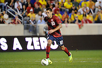 Clint Dempsey (10) of the United States. The men's national team of the United States (USA) was defeated by Ecuador (ECU) 1-0 during an international friendly at Red Bull Arena in Harrison, NJ, on October 11, 2011.