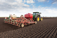 16.3.2021 Drilling Spring barley in Langtoft fen, Lincolnshire<br /> ©Tim Scrivener Photographer 07850 303986<br />      ....Covering Agriculture In The UK....