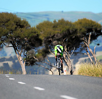Nick Byrne (Bike Manawatu) Senior Men. Time trials on Day One of the 2018 NZ Age Group Road Cycling Championships in Carterton, New Zealand on 20 April 2018. Photo: Dave Lintott / lintottphoto.co.nz