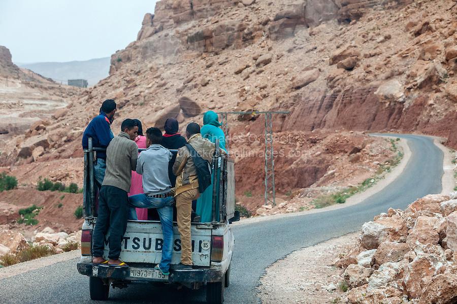 Morocco, near Tamdaght.  Passenger Safety.