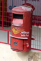 India, Rishikesh.  Mailbox.