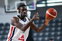 22nd February 2021, Podgorica, Montenegro; Eurobasket International Basketball qualification for the 2022 European Championships, England versus France;  Jerry Boutsiele of France