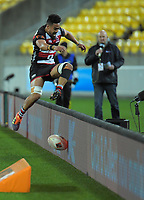 Action from the Mitre 10 Cup rugby match between Wellington Lions and Counties Manukau Steelers at Westpac Stadium in Wellington, New Zealand on Wednesday, 29 August 2019. Photo: Dave Lintott / lintottphoto.co.nz