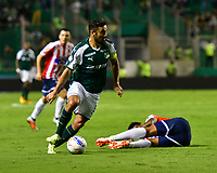 PALMIRA - COLOMBIA, 02-09-2018: Andres Perez (Der) jugador de Deportivo Cali en acción durante el encuentro con Atlético Junior por la fecha 7 de la Liga Águila II 2017 jugado en el estadio Palmaseca de la ciudad de Palmira. / Andres Perez (R) player of Deportivo Cali in action during the match against Atletico Junior for the date 7 of the Aguila League II 2017 played at Palmaseca stadium in Palmira city.  Photo: VizzorImage/ Nelson Rios / Cont