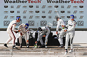 #6 Acura Team Penske Acura DPi, DPi: Juan Pablo Montoya, Dane Cameron, #55 Mazda Team Joest Mazda DPi, DPi: Jonathan Bomarito, Harry Tincknell, #77 Mazda Team Joest Mazda DPi, DPi: Oliver Jarvis, Tristan Nunez, podium, champagne