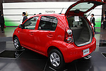May 11, 2010 - Tokyo, Japan - A Toyota Passo is pictured at the Tokyo head office, Japan, on May 11, 2010. Despite a global safety recall crisis, Toyota said it swung back to a net profit of 209.4 billion yen ($2.2 billion) for the business year that ended March 31, reversing from a loss of 437 billion yen the previous year.