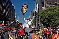 Dia de protesto de entregadores, trabalho por aplicativos. Sao Paulo. 01.07.2020. Foto Euler Paixão