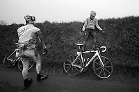 "Dwars Door Vlaanderen 2013.Dmitriy Muravyev (KAZ) doesn't quite grasps what just happened ""How did I get up here?"""