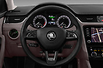 Car pictures of steering wheel view of a 2017 Skoda Octavia Combi Scout 5 Door Wagon