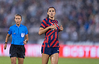 EAST HARTFORD, CT - JULY 1: Alex Morgan #13 of the USWNT looks to the ball during a game between Mexico and USWNT at Rentschler Field on July 1, 2021 in East Hartford, Connecticut.
