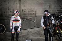 Marcel Meisen (DEU/Corendon–Circus) after the course recon<br /> <br /> Jaarmarktcross Niel 2019 (BEL)<br /> <br /> ©kramon