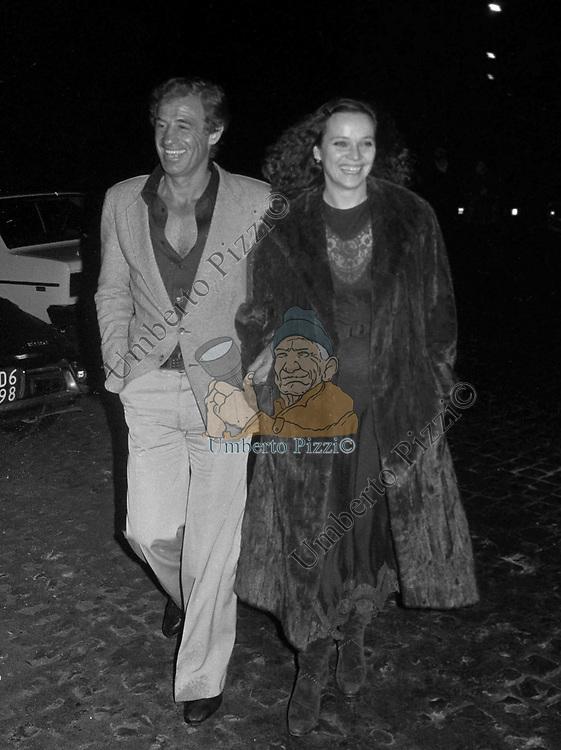 JEAN PAUL BELMONDO CON LAURA ANTONELLI  ROMA 1982