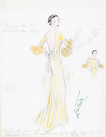 BNPS.co.uk (01202 558833)<br /> Pic: AuctionHub/BNPS<br /> <br /> Pictured: Spring 1933.<br /> <br /> A collection of fashion illustrations owned by Cecil Beaton have emerged for sale for £20,000.<br /> <br /> The drawings were given to the current seller, who has not been identified, by society and fashion photographer and costume designer Beaton as a thank you gift.<br /> <br /> Totalling over 500 designs from the 1920s and 30s, the illustrations have now been put up for auction with The Auction Hub, based in Westbury, Wiltshire.<br /> <br /> Cecil Beaton was an influential photographer, working for Vogue and Vanity Fair, as a war photographer, and taking society portraits of the Royal family and a host of celebrities.