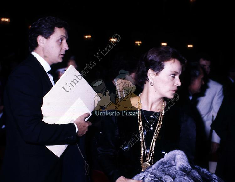 LAURA ANTONELLI CON CARLO D'ALOJA<br /> TEATRO DELL'OPERA ROMA 1982