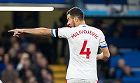 Luka Milivojević of Crystal Palace during the Premier League match between Chelsea and Crystal Palace at Stamford Bridge, London, England on 4 November 2018. Photo by Andy Rowland.<br /> .<br /> (Photograph May Only Be Used For Newspaper And/Or Magazine Editorial Purposes. www.football-dataco.com)
