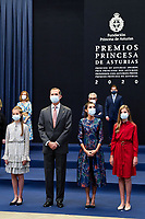 OVIEDO, SPAIN-October 16: **NO SPAIN** Crown Princess Leonor, Princess Sofia attends an Audience with Princess of Asturias awards winners during Princess of Asturias Awards 2020 at Reconquista Hotel on October 16, 2020 in Oviedo, Spain. Credit: Jimmy Olsen/MediaPunch