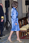 11.07.2012. King Juan Carlos of Spain and Queen Sofia of Spain attends  to the Youth Cultural Program Participants ´Route Quetzal BBVA 2012´ at the Royal Palace of El Pardo. In the image Queen Sofia (Alterphotos/Marta Gonzalez)