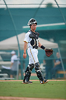 Pittsburgh Pirates Paul Brands (5) during an Instructional League game against the New York Yankees on September 28, 2017 at Pirate City in Bradenton, Florida.  (Mike Janes/Four Seam Images)