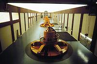 - turbine room in Grosio hydroelectric power station of AEM (Municipal Energetic Company of Milan)....- sala turbine nella centrale idroelettrica AEM (Azienda Energetica Municipale di  Milano) a Grosio (Sondrio, Valtellina)