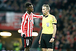 Athletic de Bilbao's Inaki Williams have words with the referee Fernandez Borbalan during Spanish Kings Cup match. January 05,2017. (ALTERPHOTOS/Acero)