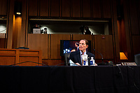 United States Senator Richard Blumenthal (Democrat of Connecticut), speaks in a business meeting on the fourth day of the confirmation hearing for Judge Amy Coney Barrett, President Donald Trump's Nominee for Supreme Court, in Hart Senate Office Building in Washington DC, on October 15th, 2020.<br /> Credit: Anna Moneymaker / Pool via CNP /MdeiaPunch