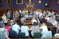 Unison members attend a packed out meeting in support of sacked activist Karen Reissman at the House of Commons in London. Members were also lobbying their MPs after the meeting. Karen was sacked from her job as a mental health nurse for going public with her concerns about cuts in the service.
