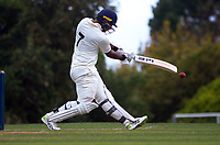 Devan Vishvaka bats during day two of the provincial cricket match between Wellington A and Central Districts A at Kelburn Park in Wellington, New Zealand on Tuesday, 16 March 2021. Photo: Dave Lintott / lintottphoto.co.nz