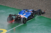 9th October 2021; Formula 1 Turkish Grand Prix 2021 Qualifying sessions at the Istanbul Park Circuit, Istanbul;   Fernando Alonso ESP 14 , Alpine F1 Team off track into the gravel bed