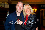 Valerie Byrne and Brendan O'Driscoll celebrating the engagement in Benners Hotel on Saturday.