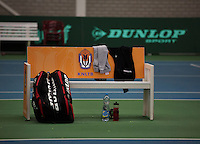 Rotterdam, The Netherlands, 07.03.2014. NOJK ,National Indoor Juniors Championships of 2014, 12and 16 years, Dunlop , Bench<br /> Photo:Tennisimages/Henk Koster