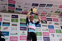 MANIZALES - COLOMBIA, 08-08-2018: Sergio Andres Huiguita (COL - MANZANA POSTOBON) ganó la  la etapa 3 de la Vuelta a Colombia 2018 que se realizó entre las ciudades de Armenia y Manizales con una distancia de 187 Km. La Vuelta a Colombia 2018 se corre en 13 etapas entre el 5 y 19 de agosto de 2018 con inicio en Pereira y final en la ciudad de Medellín. / Sergio Andres Huiguita (COL - MANZANA POSTOBON) won stage 3 of the Vuelta a Colombia 2018 that took place between the cities of Armenia and Manizales with a distance of 187 km. The Vuelta a Colombia 2018 runs in 13 stages between 5 and August 19, 2018 with beginning in Pereira and final in the city of Medellín Photo: VizzorImage / Santiago Osorio / Cont